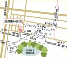 アクセスマップ 浜松町駅前